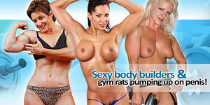 Bodybuilders In Heat - Pumping iron all day, and fucking cock all night!