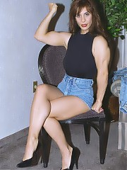 Attractive Athena shows her well developed physique