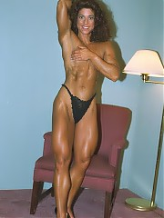 Karen Fazio strong legs, a great pair of arms, a well-muscled back and a deep-cut abs