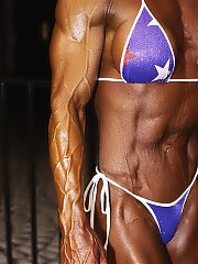 Michele Burdick has national caliber bodybuilding physique as well as some pretty impressive strength lifts