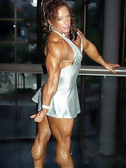 Colette Guimond in her silver mini dress have one of the best physiques