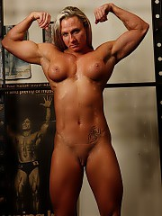 Hard-bodied, muscled, oiled up and stripped down women