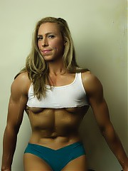 Female bodybuilder Denise spends a lot of time in the gym. Her ripped abs are your first clue. The vascular muscles of her biceps, pecs, glutes, and...