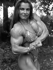 Zuzana Korinkova black and white photos, and she was at her biggest and strongest, and easily one of the most muscular physiques
