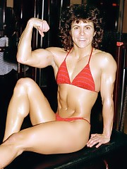 Cammie Lusko poses in many different bikinis and other outfits, she was considered 'very muscular'