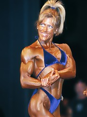 Great close up shots of the bodybuilding women at the Alberta Championships, all flexed shots on stage